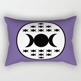 Triple Goddess Full Moon - on Ultra Violet Rectangular Pillow