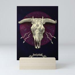 Beelzebub - devilish hybrid creature skull Mini Art Print