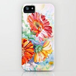 Gerbera Daisy Watercolor iPhone Case