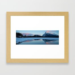 Banff Alberta, Rundle Mountain  Framed Art Print