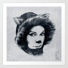 Northern Cat Art Print
