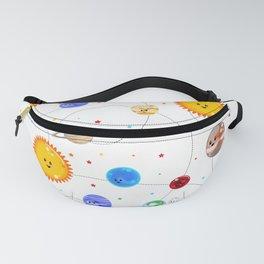 Kawaii Solar System Pattern Fanny Pack
