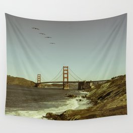 Golden Gate Birds Wall Tapestry