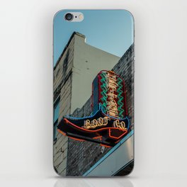 Boot Shop Neon Sign iPhone Skin