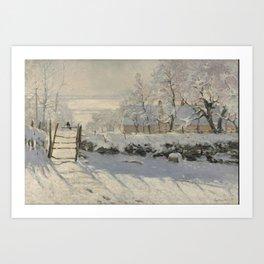 Claude Monet  -  The Magpie Art Print