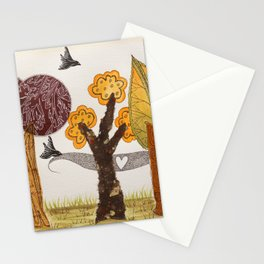 Romantic autumnal grove Stationery Cards