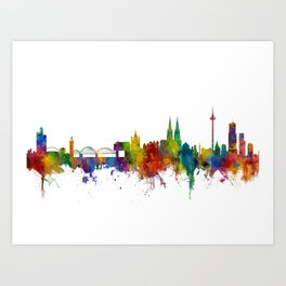 Cologne Germany Skyline Art Print