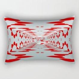3D Hearts Rectangular Pillow