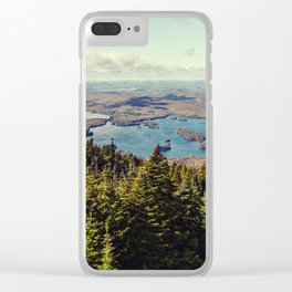 from blue mountain Clear iPhone Case