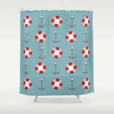 Sailing Pattern Shower Curtain