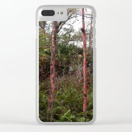 Scarlet in the Slough Clear iPhone Case