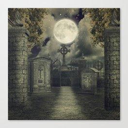 Graveyard #4 * cemetary thombstone creepy scary Canvas Print