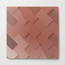 Terracotta pattern, layered like shingles, tiles or paint swatches you just cannot choose from! Metal Print