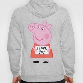 Peppa pig  i love u Hoody