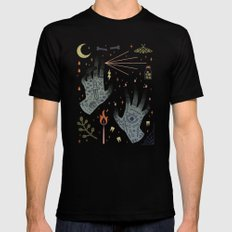 A Curse Upon You! Mens Fitted Tee MEDIUM Black