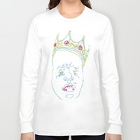 biggie smalls Long Sleeve T-shirts featuring Biggie by rarcomeus