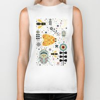bugs Biker Tanks featuring Midnight Bugs  by Carly Watts