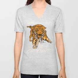 Never bring a bat to a cat fight Shirt - Tiger tee Unisex V-Neck