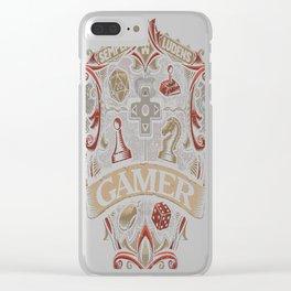Gamer-Crest Clear iPhone Case