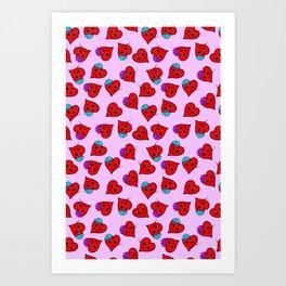love sick on pink Art Print
