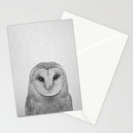 Owl - Black & White Stationery Cards