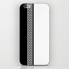 Greek Key 2 - White and Black iPhone Skin