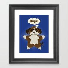 Star Dog Framed Art Print
