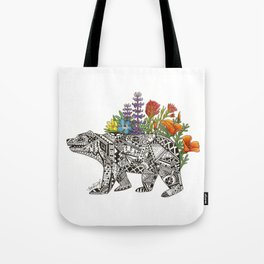 Grizzly Flora Tote Bag