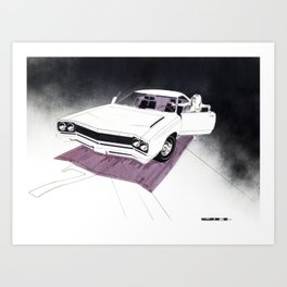 1966 Muscle Car Front End Sketch Art Print