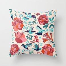 Hummingbird summerdance Throw Pillow