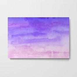 Sky Watercolor Texture Abstract 442 Metal Print