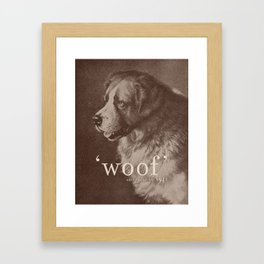 Famous Quotes #1 (anonymous dog, 1941) Framed Art Print