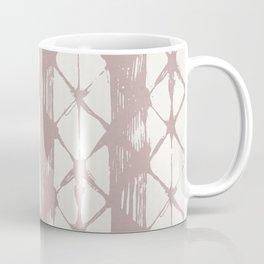 Simply Braided Chevron Clay Pink on Lunar Gray Coffee Mug