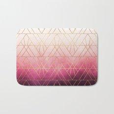 Pink Ombre Triangles Bath Mat