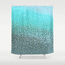 TEAL GLITTER Shower Curtain