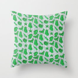 Army Inspired Icons Set 4 Throw Pillow
