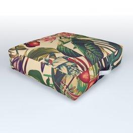 Vintage Tropical Flora (green) Outdoor Floor Cushion