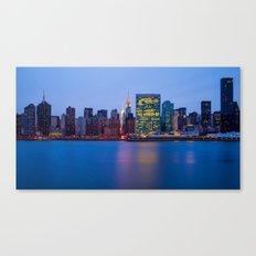 Beginning of the night over Manhattan Canvas Print