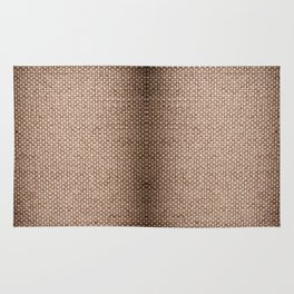 Beige burlap cloth texture abstract Rug