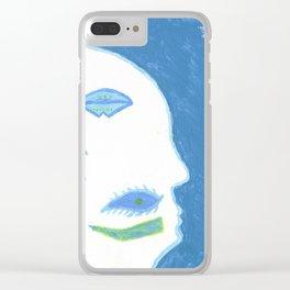 Jared's Paint Scraps Clear iPhone Case