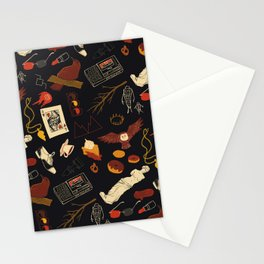 """Twin Peaks"" Pattern Design Stationery Cards"