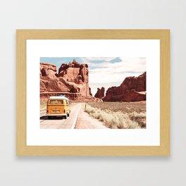 Desert Road Trip Framed Art Print