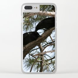 Crows in Love Clear iPhone Case