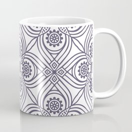 Modern Abstract Flower Pattern Coffee Mug