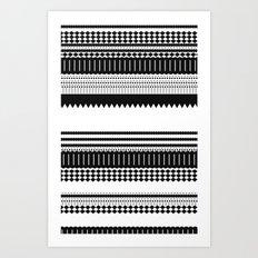 Graphic_Black&white Art Print