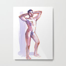 COLBY, Nude Male by Frank-Joseph Metal Print