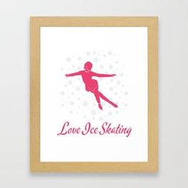 Lovely Gift Ice Skating Tshirt Design Love ice skating Framed Art Print