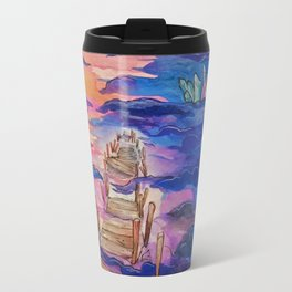 Space Clouds Crystals Travel Mug