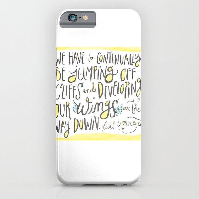 jumping off cliffs - kurt vonnegut quote iPhone Case
