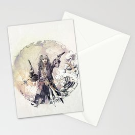 Jack Sparrow with double pistols Stationery Cards